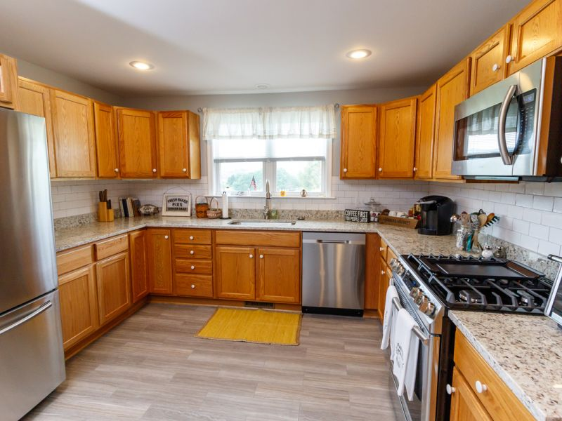 wide view of cottage kitchen